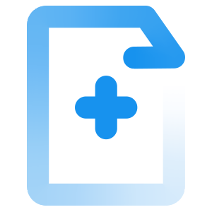 blue medical records icon