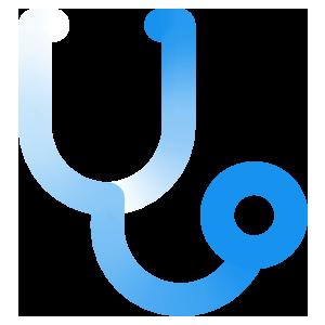 blue stethoscope icon