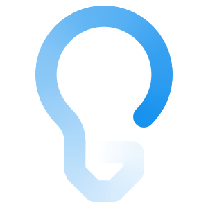 blue lightbulb icon